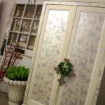 A Favorite Stenciled Cabinet Project – Soft And Neutral Outside, Jazzy Bright Inside!