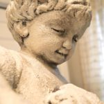 A Discarded Fountain Statue Gets A Makeover Using Artisan Enhancements & Chalk Paint®!