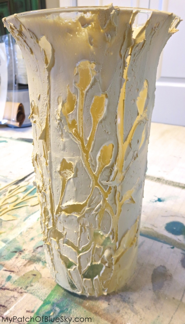 Photo of Textura Paste drying on vase