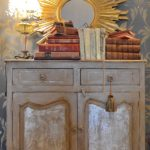 Create This Two-Color Foil And Torn Chalk Paint® Cabinet Finish