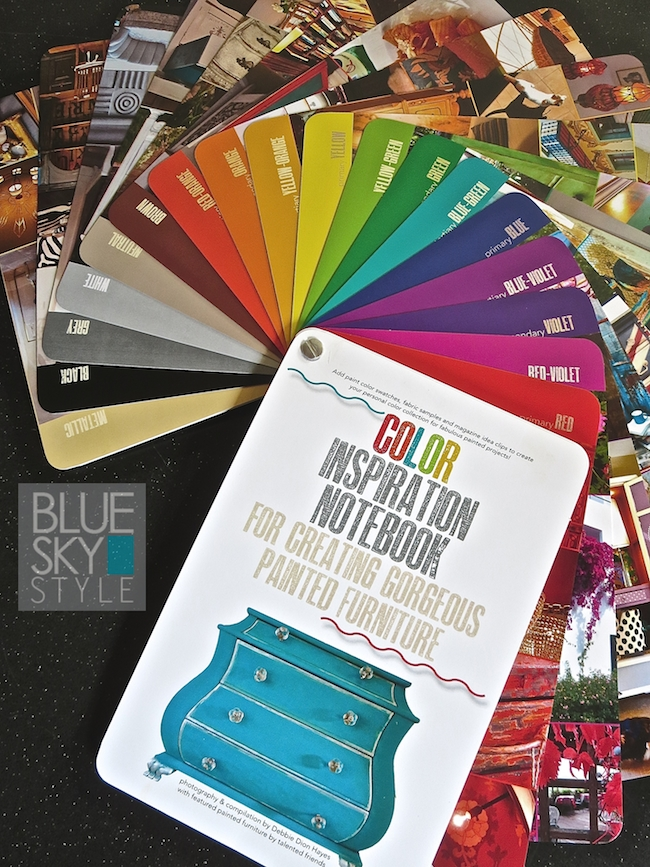 The Color Inspiration Notebook built-in color wheel