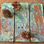 Use Wood Icing® Plus Rust, Patina, And A Stencil On Art Canvases