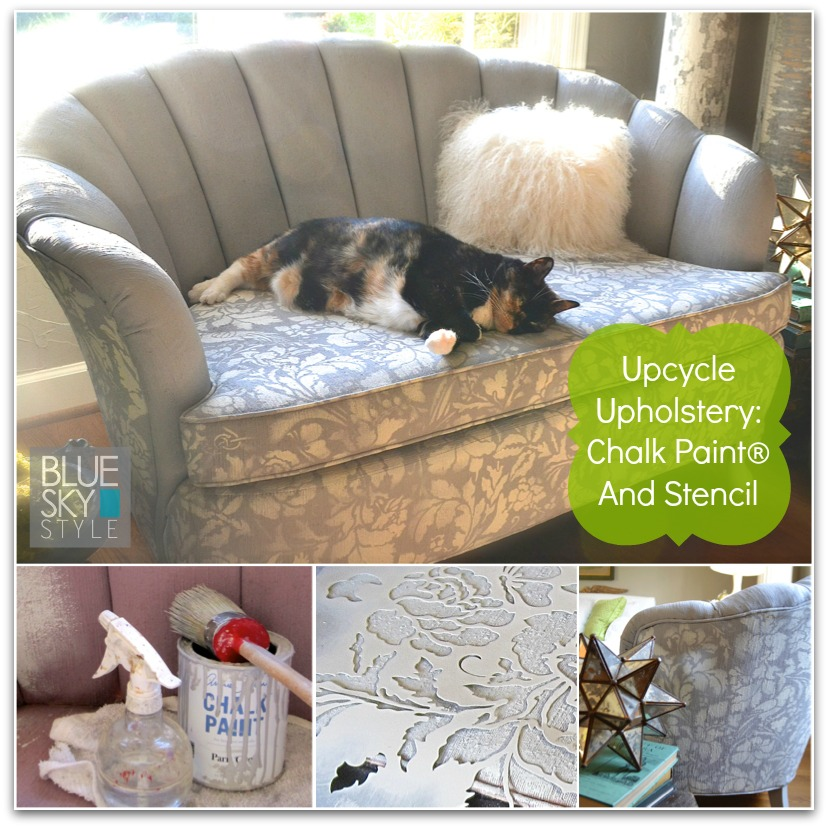 How to upcycle upholstery using a Royal Design Studio stencil and Chalk Paint®.