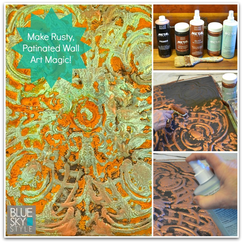 Make Rusty, Crusty Wall Art Magic Using Modern Masters Metal Effects products | Tutorial