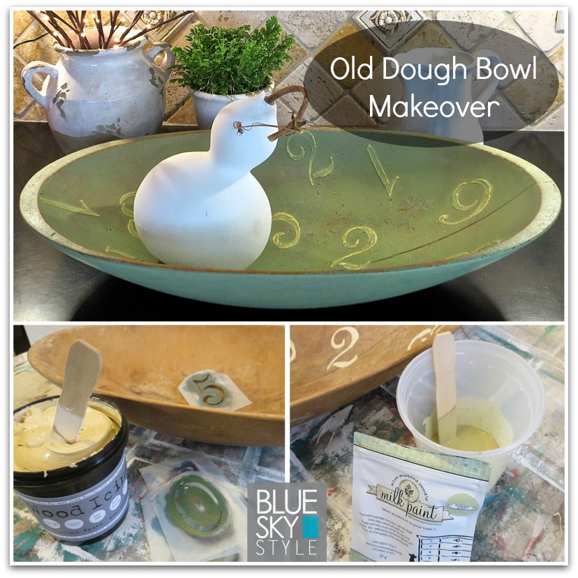 An Old Dough Bowl Gets Gorgeous Using Wood Icing® and Milk Paint!