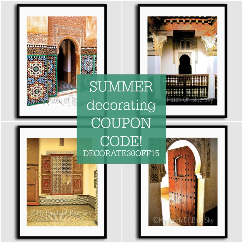 Summer decorating is easy and inexpensive with photo downloads from Etsy.com