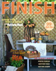 Wagner's FINISH magazine for fall 2016