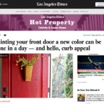 Surprise! Our Front Door Was Featured In The LA Times