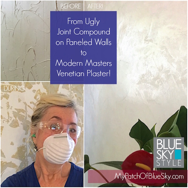 How to go from ugly jount complound on paneled walls to lustrous Modern Masters Venetian Plaster