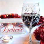 Birch Tree Painted Holiday Wine Glass