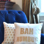 My Patch Of Blue Sky | Holiday Stenciled Pillows
