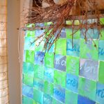 My Patch Of Blue Sky | How To Make A Woven Paper Wall Hanging Using Royal Design Studio Stencils