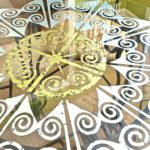 My Patch Of Blue Sky | How To Use A Royal Design Studio Custom Modello On A Glass Tabletop