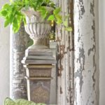 Fusion Mineral Paint Upcycled Ornate Plant Stand