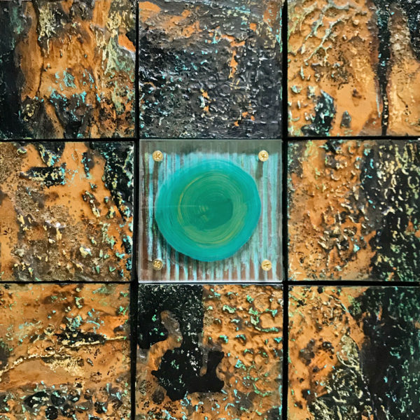 Diamond In The Rough painting on wood and acrylic by Debbie Dion Hayes