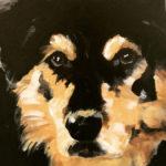 Acrylic painting of Dakota by Debbie Dion Hayes