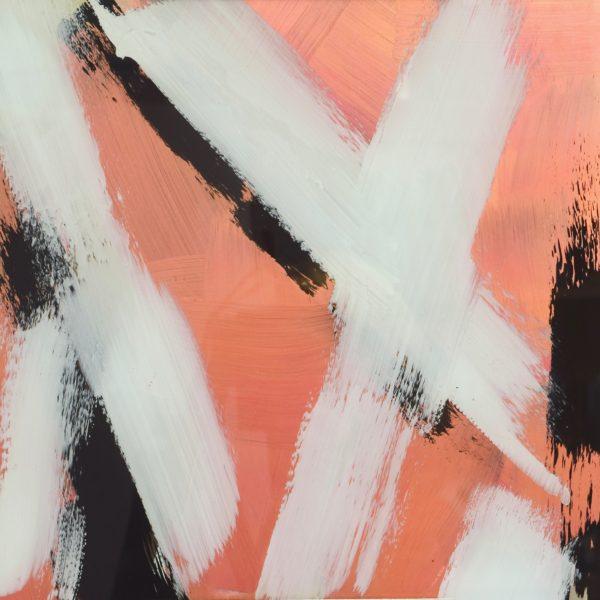 Electric X verre eglamise art by Debbie Dion Hayes