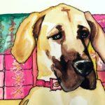 Watercolor painting of Harper Lee by Debbie Dion Hayes