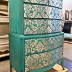 Stenciled gilding on furniture for General Finishes Furniture Fest