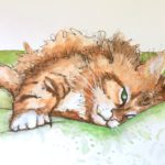 Magoo watercolor painting by Debbie Dion Hayes