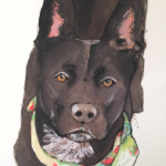 Watercolor painting of Lucy by Debbie Dion Hayes