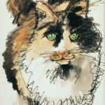 Watercolor painting of Lacy Jane by Debbie Dion Hayes