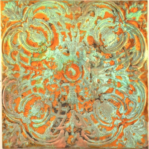 Molten Rust art on metal, by Debbie Dion Hayes